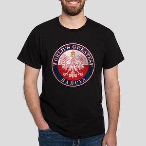 Round World's Greatest Babcia Dark T-Shirt