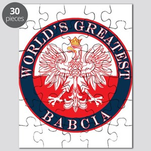 Round World's Greatest Babcia Puzzle