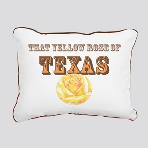 yellow rose of TEXAS Rectangular Canvas Pillow