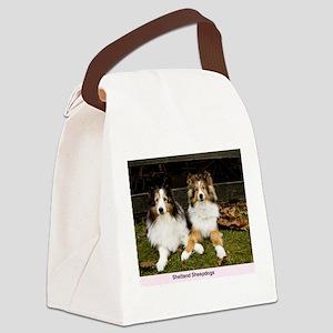 Shetland Sheepdogs Canvas Lunch Bag