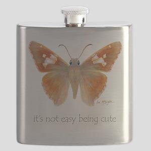 cute skipper butterfly Flask