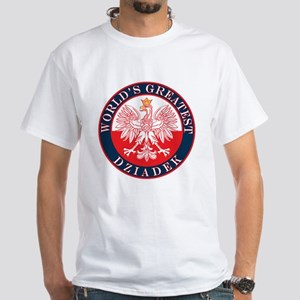 Round World's Greatest Dziadek White T-Shirt