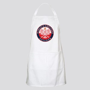 Round World's Greatest Dziadek Apron