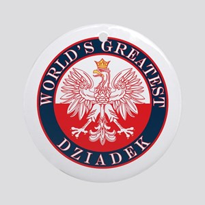 Round World's Greatest Dziadek Ornament (Round)
