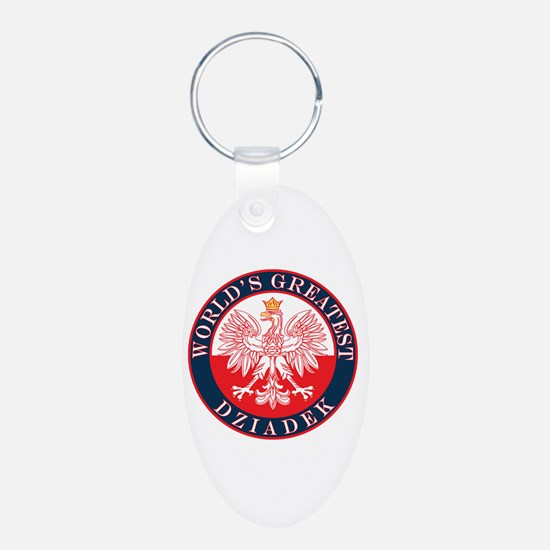 Round World's Greatest Dziadek Keychains