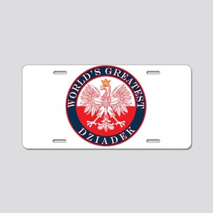 Round World's Greatest Dziadek Aluminum License Pl