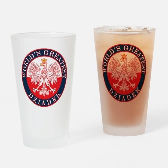 Round World's Greatest Dziadek Drinking Glass