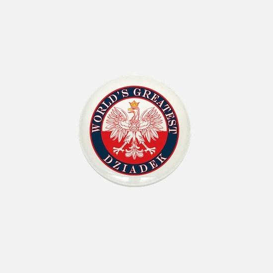 Round World's Greatest Dziadek Mini Button