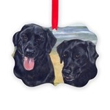 Dog black labrador retriever Picture Frame Ornaments