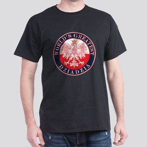 Round World's Greatest Dziadzia Dark T-Shirt