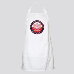 Round World's Greatest Dziadzia Apron