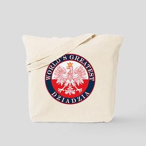 Round World's Greatest Dziadzia Tote Bag