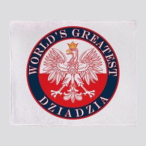 Round World's Greatest Dziadzia Throw Blanket
