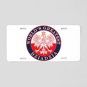 Round World's Greatest Dziadzia Aluminum License P