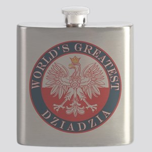 Round World's Greatest Dziadzia Flask