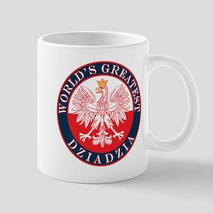Round World's Greatest Dziadzia Mug