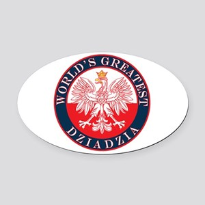 Round World's Greatest Dziadzia Oval Car Magnet