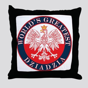 Round World's Greatest Dziadzia Throw Pillow