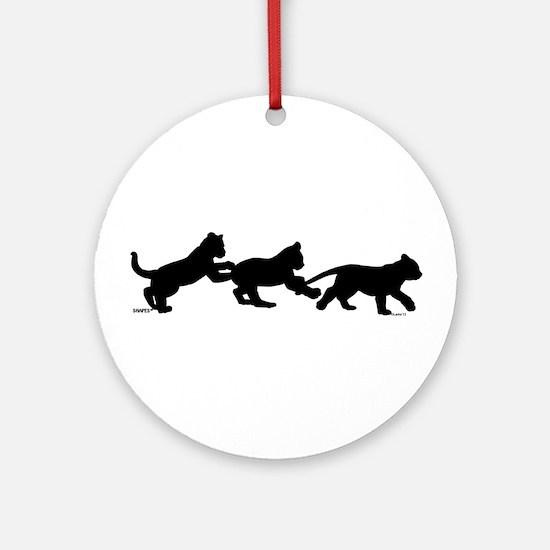 lion cub shapes Ornament (Round)