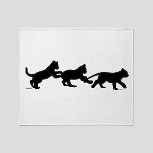 lion cub shapes Throw Blanket