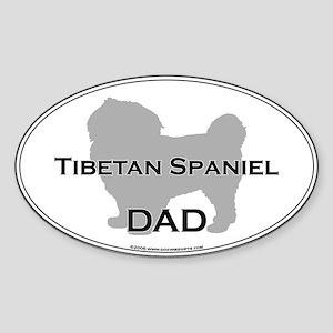 Tibetan Spaniel DAD Oval Sticker