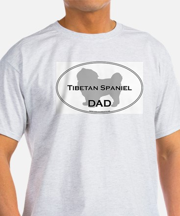 Tibetan Spaniel DAD Ash Grey T-Shirt