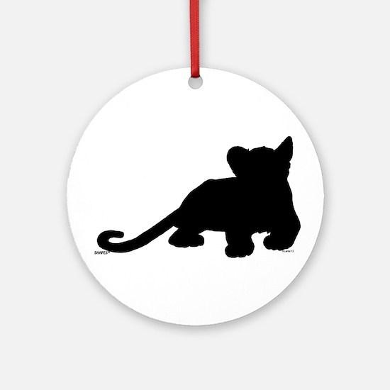 Lion cub shape Ornament (Round)