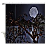 Moon Over The Lake Shower Curtain