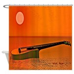 Boat Guitar Shower Curtain