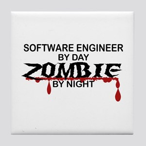 Software Engineer Zombie Tile Coaster