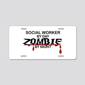 Social Worker Zombie Aluminum License Plate