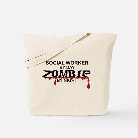 Social Worker Zombie Tote Bag