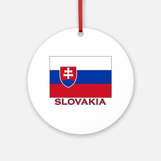 Slovakia Flag Stuff Ornament (Round)
