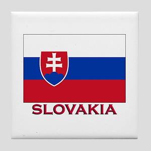 Slovakia Flag Stuff Tile Coaster