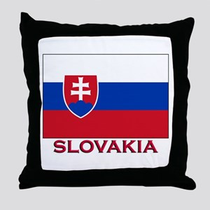 Slovakia Flag Stuff Throw Pillow