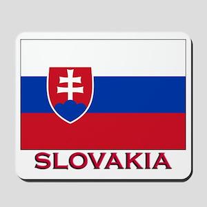 Slovakia Flag Stuff Mousepad