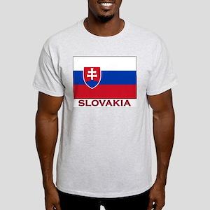 Slovakia Flag Stuff Ash Grey T-Shirt