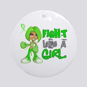 Licensed Fight Like a Girl 42.8 L Ornament (Round)