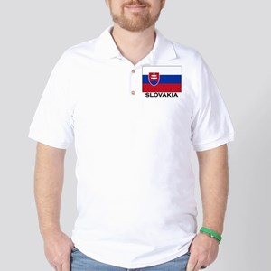 Slovakia Flag Merchandise Golf Shirt