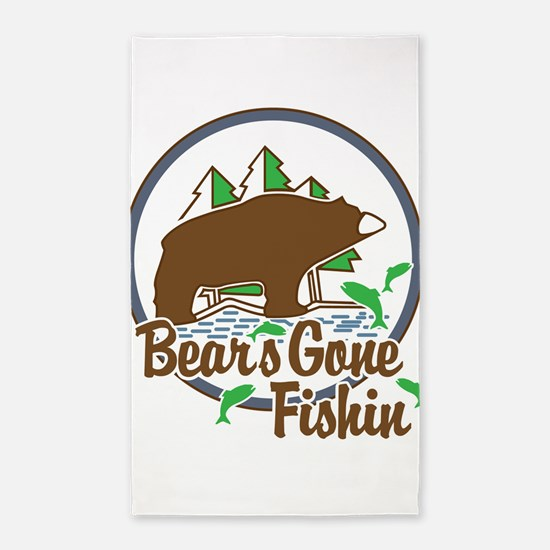 Bear's Gone Fishn' 3'x5' Area Rug