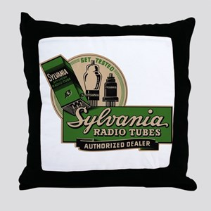 Sylvania Radio Tubes Throw Pillow