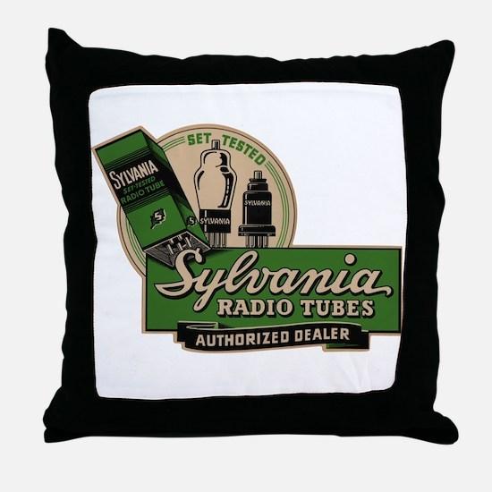 Sylvania Radio Tubes Throw Pillow