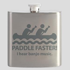 PaddleFasterIHearBanjoMusic-Blue Flask