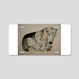 Beagle Aluminum License Plate