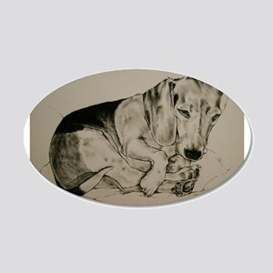 Beagle 20x12 Oval Wall Decal