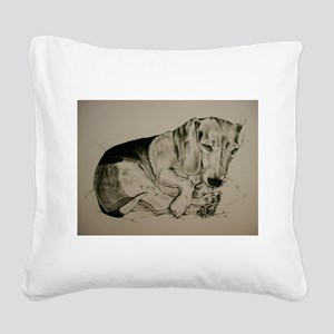 Beagle Square Canvas Pillow