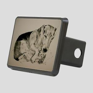 Beagle Rectangular Hitch Cover