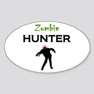 Zombie Hunter Sticker (Oval)