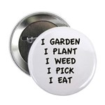 "I Garden 2.25"" Button (10 pack)"