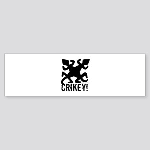 Crikey Crocodile Hunter Bumper Sticker